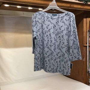 2XL Shirt Karen Scott Blue NWT